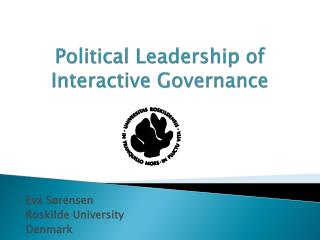 Political Leadership of Interactive Governance