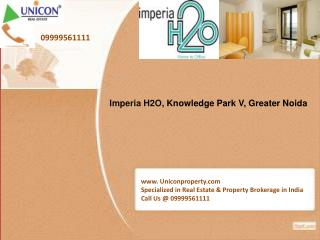Imperia H2O | Call 09999561111 for Booking of H2O Knowledge Park V Greater Noida