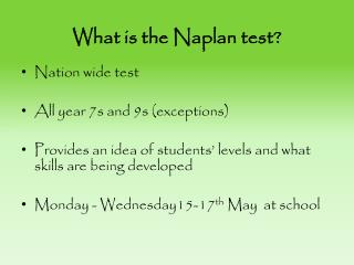 What is the  Naplan  test?