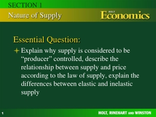 Chapter 5: Supply Section 1