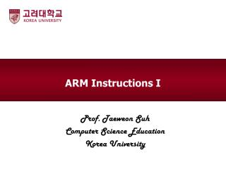 ARM Instructions I