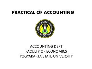 ACCOUNTING DEPT FACULTY OF ECONOMICS YOGYAKARTA STATE UNIVERSITY