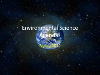 Environmental Science Agendas