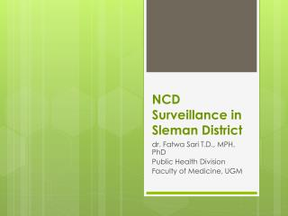NCD Surveillance in  Sleman  District