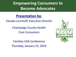 Empowering Consumers to  Become Advocates