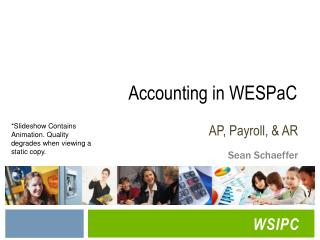 Accounting in WESPaC