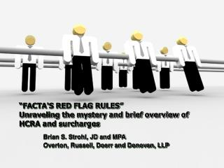 """FACTA'S RED FLAG RULES"" 	 Unraveling the mystery and brief overview of HCRA and surcharges"