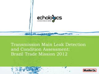 Transmission Main Leak Detection and Condition Assessment: Brazil Trade Mission 2012