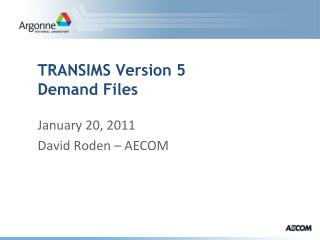 TRANSIMS Version 5 Demand Files