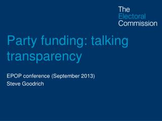 Party funding: talking transparency