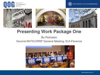Presenting Work Package One