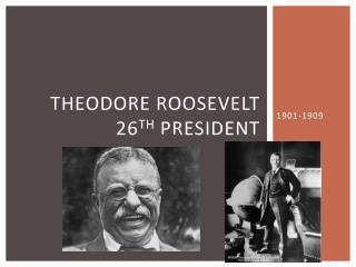 Theodore Roosevelt 26 th  President