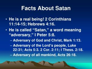 Facts About Satan