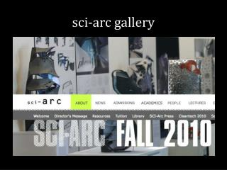 sci -arc gallery