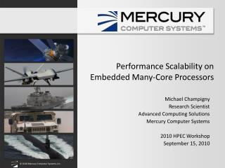 Performance Scalability on Embedded Many-Core Processors