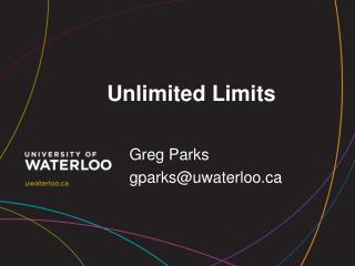 Unlimited Limits