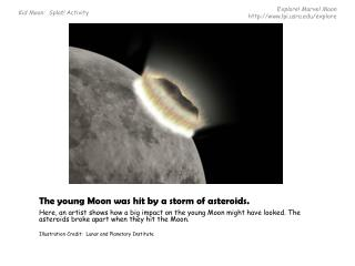 The young Moon was hit by  a storm of asteroids.