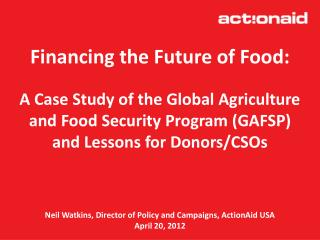 Financing the Future of Food: