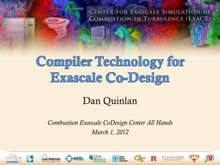 Compiler  Technology for  Exascale  Co- Design