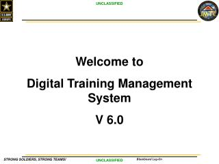 Welcome to  Digital  Training Management  System V 6.0