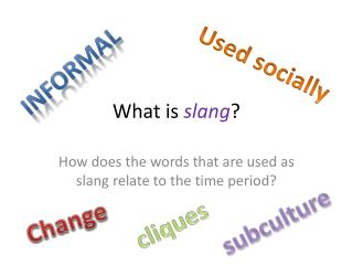What is  slang ?