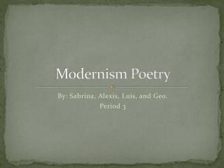 Modernism Poetry