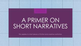 A primer on short narratives