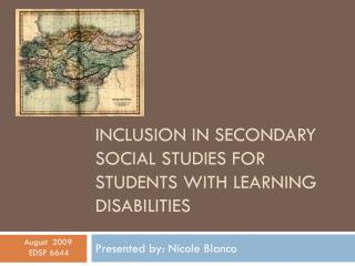 Inclusion in secondary social studies for students with learning disabilities