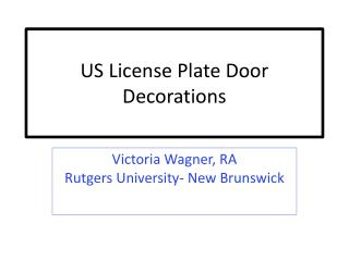 US License Plate Door Decorations