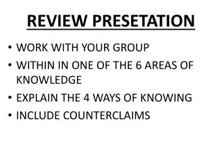 REVIEW PRESETATION