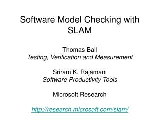 Software Model Checking with SLAM