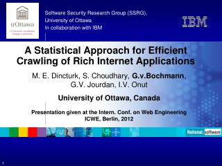 A  Statistical Approach for Efficient Crawling of Rich Internet  Applications