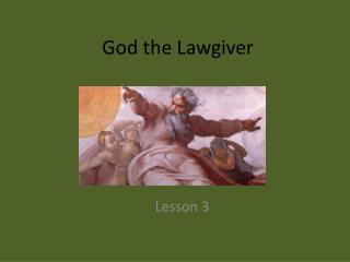 God the Lawgiver