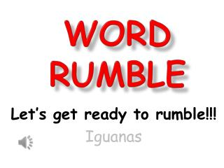 Word Rumble