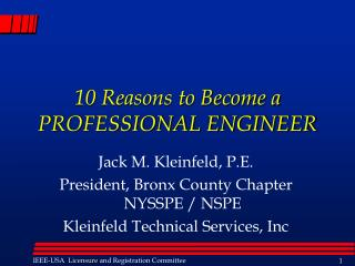 10 Reasons to Become a PROFESSIONAL ENGINEER