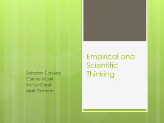 Empirical  and Scientific Thinking