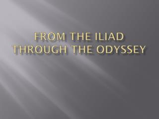 From the Iliad through the Odyssey