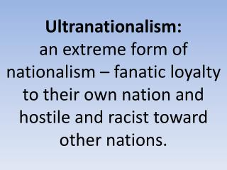 Ultranationalism :