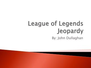 League of Legends Jeopardy