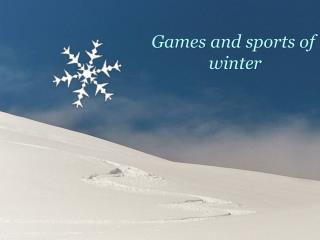 Games and sports of winter