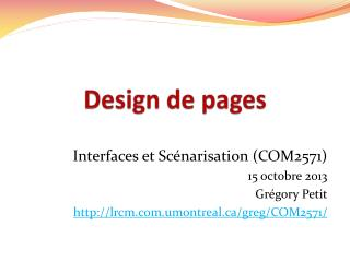 Design de pages