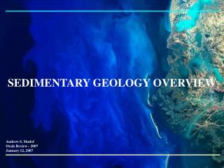 SEDIMENTARY GEOLOGY OVERVIEW