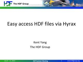 Easy access  HDF files  via Hyrax