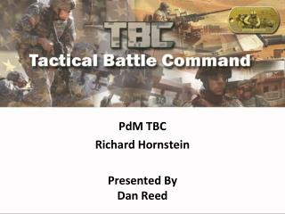 PdM TBC Richard  Hornstein Presented By Dan Reed