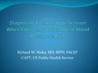 Diagnosing Possible Hypertension When Emergency Department Blood Pressure is High