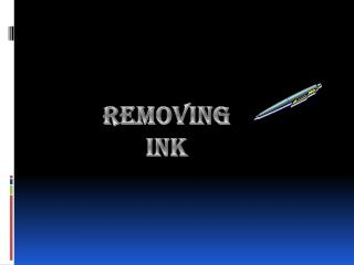 Removing Ink