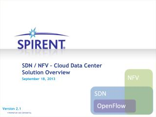 SDN / NFV – Cloud Data Center Solution Overview