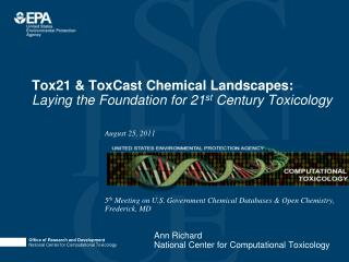 Tox21 & ToxCast Chemical Landscapes:  Laying the Foundation for 21 st  Century Toxicology