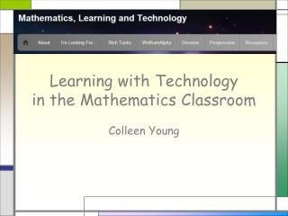 Learning with Technology in the Mathematics Classroom