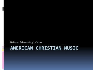 American Christian Music